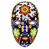 NOVICA Decorative Huichol Papier Mache Mask, Multicolor, 'Dance Of The Deer'