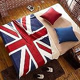 union jack fleece - King Size Uk Union Jack Sherpa Fleece Couch Throw Blanket 63 x 82 Inch