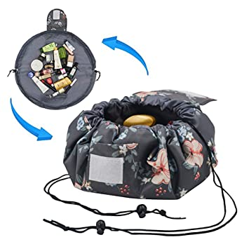 9e3e3fd0ea Amazon.com   Adigow Lazy Drawstring Makeup Bag Magic Cosmetic Organizer  Pouch Waterproof Travel Toiletry Bags For Womens