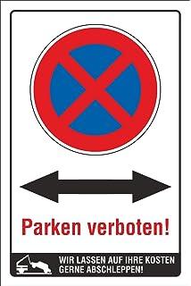 Schild Parkplatz Meiner Ihr Text Wunschtext Parkverbvot hochkant