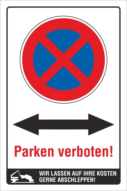 Schild Parkplatzschild Parkverbot Parken Kunden Ihr Text Logo 3 mm Alu-Verbund