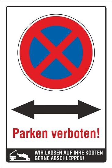 Cartel prohibido aparcar ambas direcciones Flecha ...