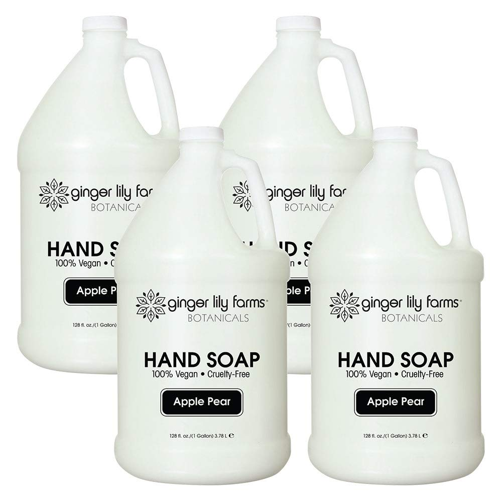 Ginger Lily Farms Botanicals All-Purpose Apple Pear Hand Soap, 1 Gallon (Case of 4)