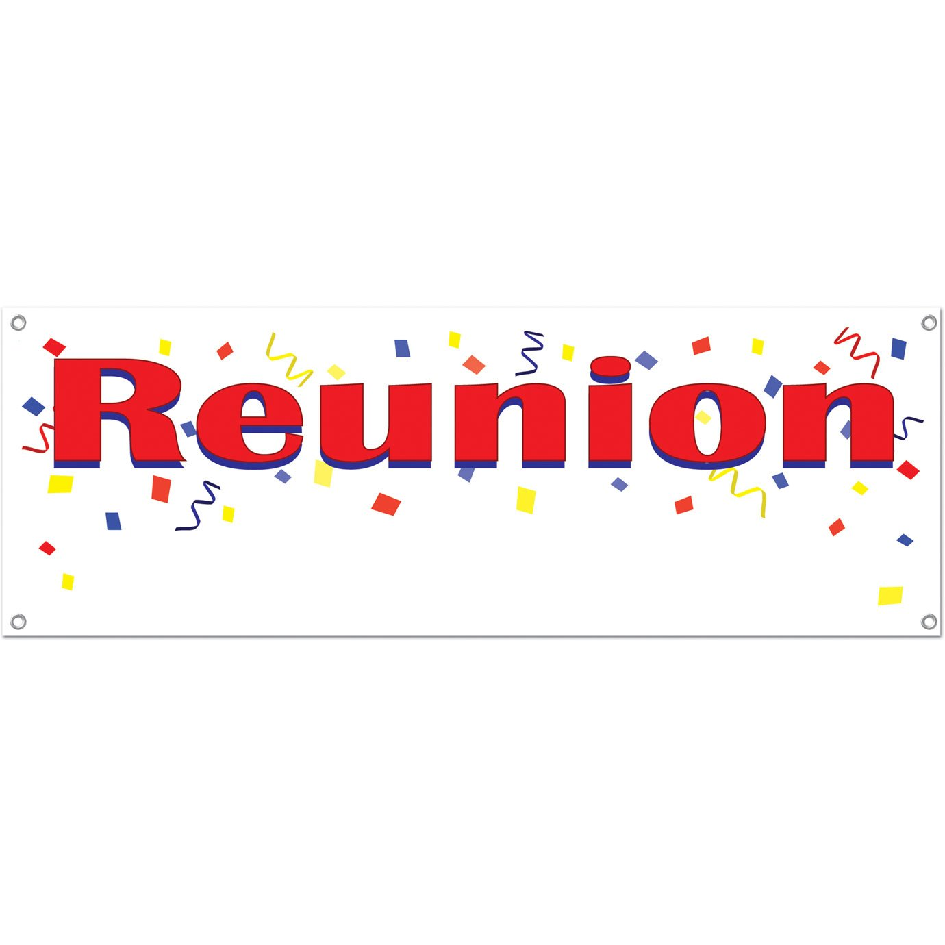 Reunion Sign Banner Party Accessory The Beistle Company 57517 1//Pkg 1 count