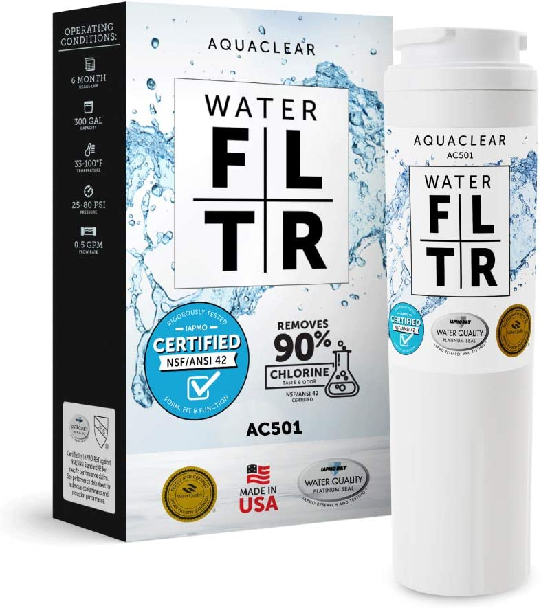 Aqua Clear UKF8001 Replacement for Filter4. Help Support Local Manufacturing. Made in Indiana. Certified 42 to the NSF standards for reduction of Chlorine Taste and Odor.(1 Pack)
