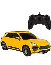 Rastar - Coche teledirigido 1:24, Porsche Macan Turbo (amarillo) (ColorBaby