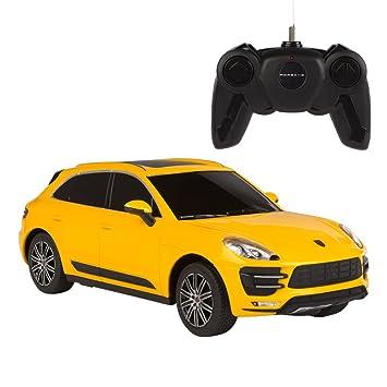 Rastar - Coche teledirigido 1:24 Porsche Macan Turbo, color amarillo, 1 (ColorBaby 85204): Amazon.es: Juguetes y juegos