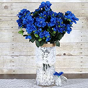 Efavormart 120 pcs Artificial GARDENIAS Flowers for DIY Wedding Bouquet Centerpieces Arrangement Party Home Decoration - Royal Blue 79