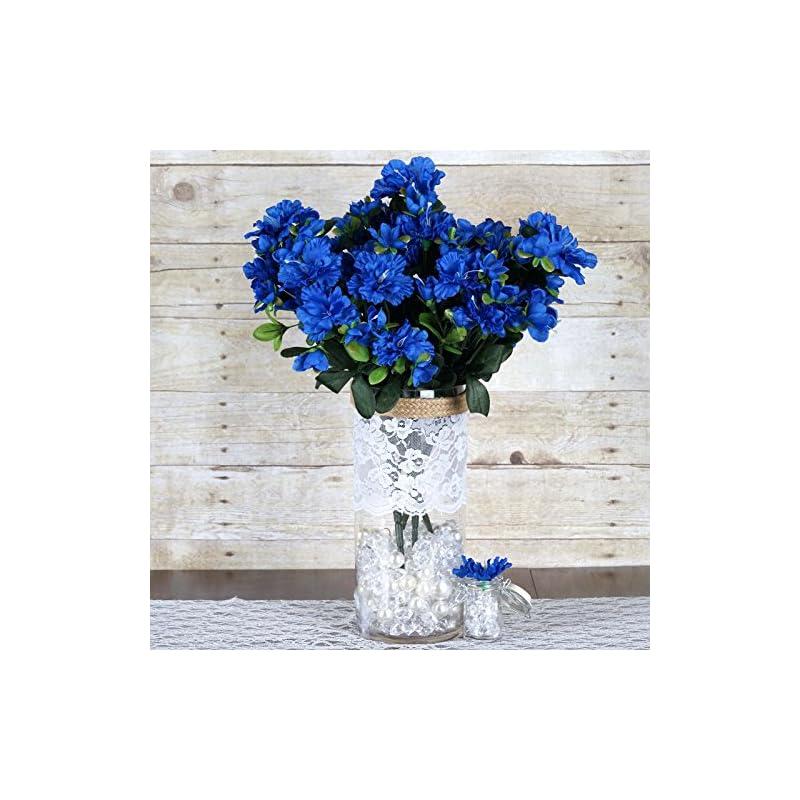 silk flower arrangements efavormart 120 pcs artificial gardenias flowers for diy wedding bouquet centerpieces arrangement party home decoration - royal blue