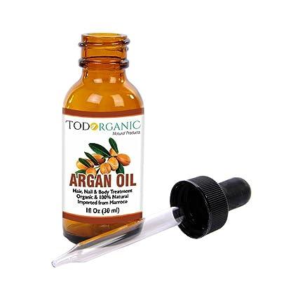 Aceite Marroquí de Argán 100% Puro y Orgánico del USDA Para El Pelo, La