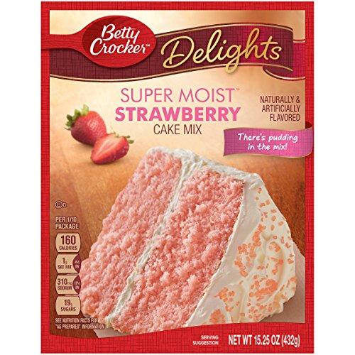 Betty Crocker Super Moist Cake Mix Strawberry 15.25 oz Box (pack of 6)