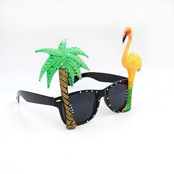Museya Gafas Hawaiano Flamingo Árbol Gafas de Sol para Playa ...