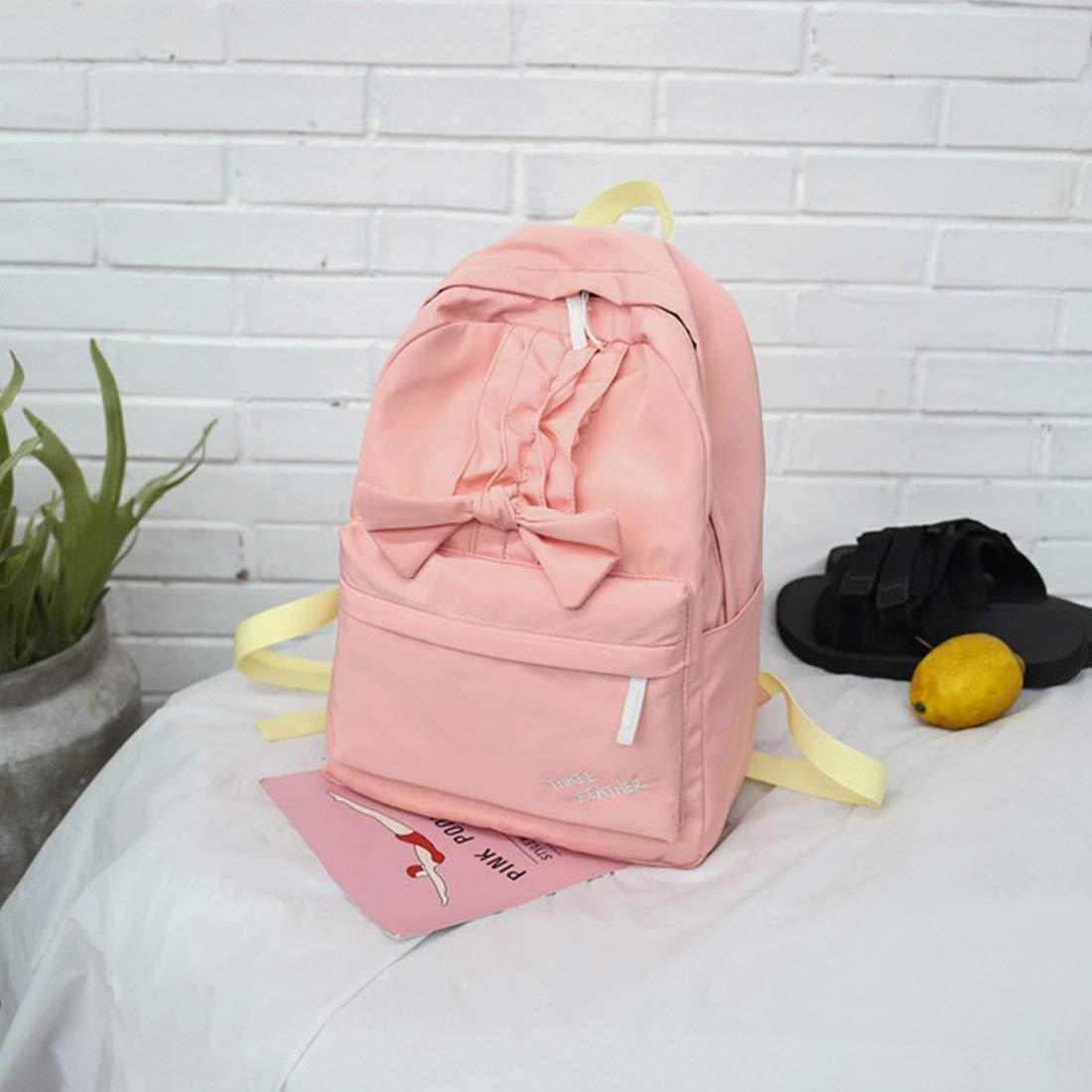 Klerokoh Frauen Rucksack, große Kapazität Kapazität Kapazität Mädchen Daypacks Volltonfarbe Bogen Rucksack Spitze leichte Tasche (Farbe   lila) B07MBPR529 Daypacks Für Ihre Wahl f70542