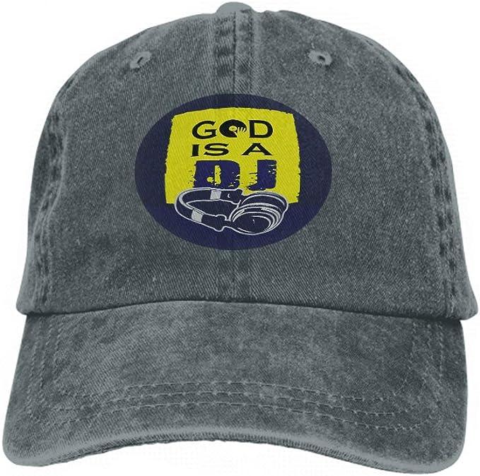 Xunulyn Unisex Adjustable Mesh Caps Snapback Hat God DJ Design ...