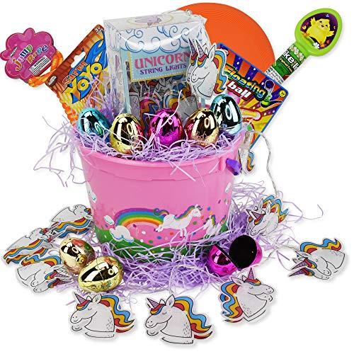 Salty Bears Unicorn Easter Baskets (Awesome Unicorn Easter Basket) ()