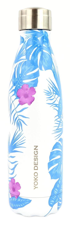 YOKO DESIGN Bouteille Isotherme 500 ML Tropicale Bleue Adulte Unisexe, 26,5 CM