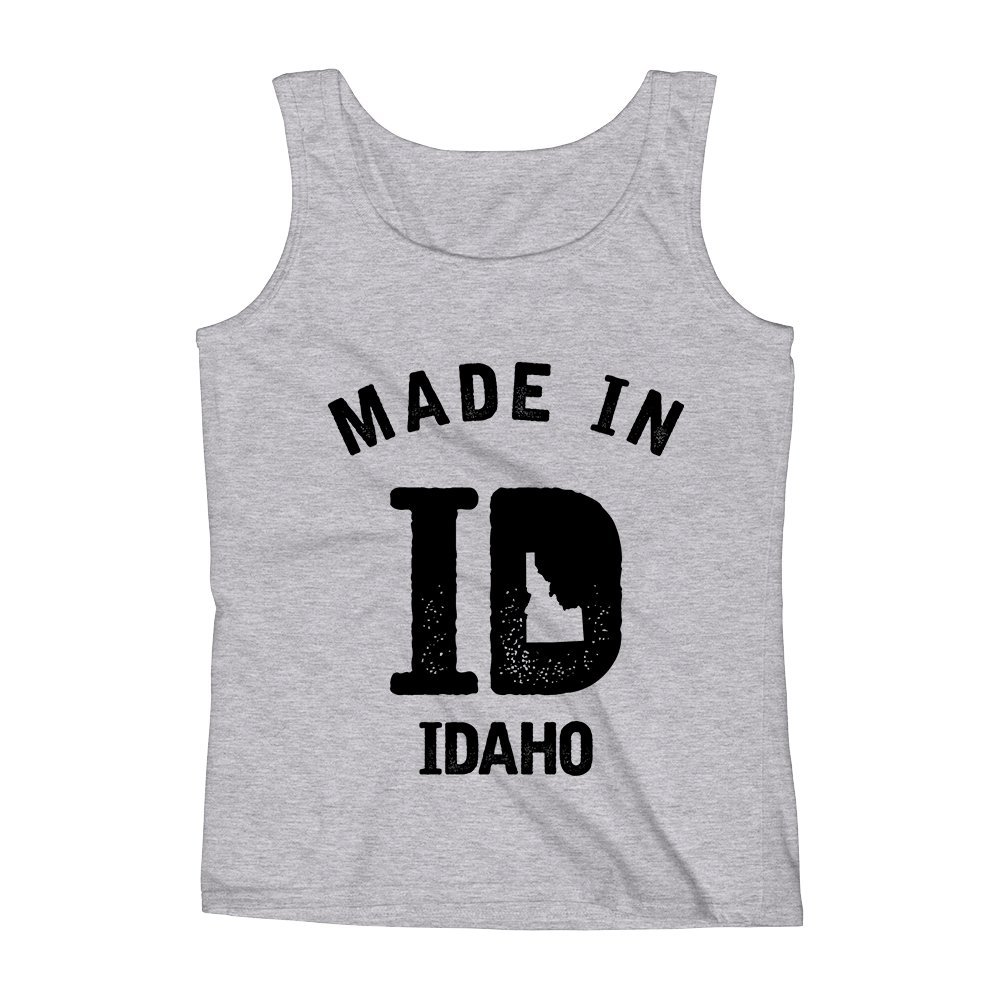 Mad Over Shirts Made in ID Idaho Unisex Premium Tank Top