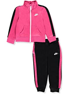 Nike Baby Girl Jogging Set ~ Tracksuit ~ Pink /& Black ~