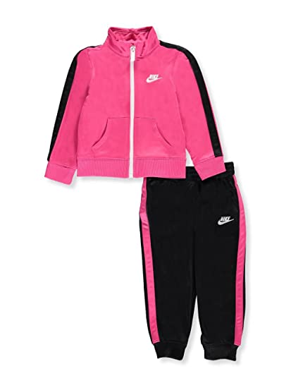 ca1248710 NIKE Baby Girls' 2-Piece Tracksuit - Black/Vivid Pink, 24 Months:  Amazon.co.uk: Clothing