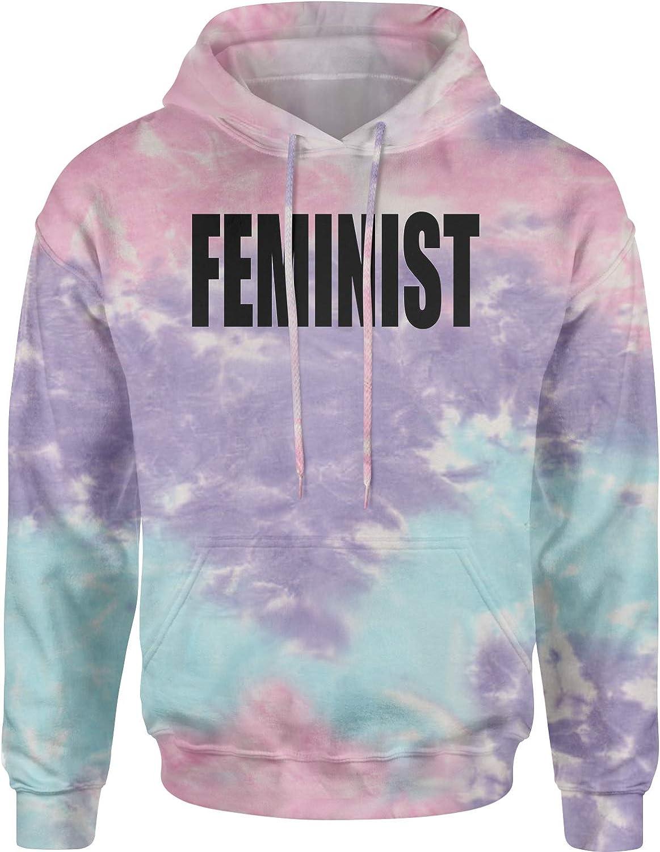Expression Tees Black Print Feminist Unisex Adult Tie-Dye Hoodie