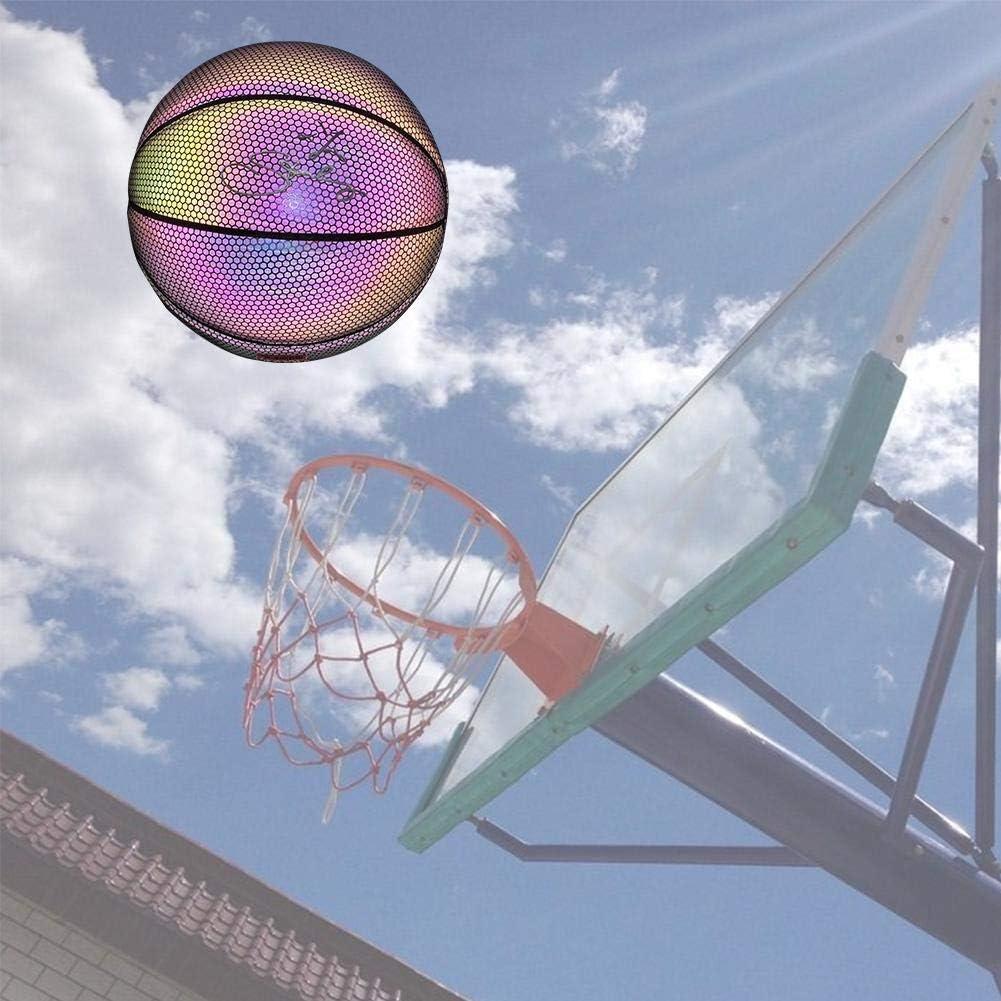 Baloncesto Iluminado PU Sin Batería Brillo En La Oscuridad ...