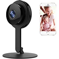 CPVAN 1080P Home Security Camera, Indoor 2.4G WiFi Wireless Security Surveillance Camera System, Night Vision-Two Way Audio-Motion Detection for Home/Office/Baby/Pet Monitor with iOS Android App Black