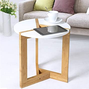 Malayas Table Basse Scandinave Blanche 40 x 41 cm Table d\' Appoint ...