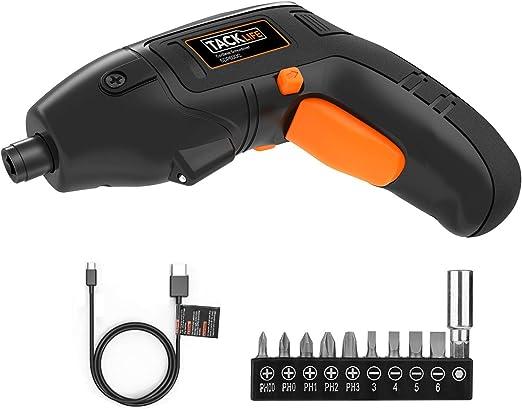Amazon.com: Destornillador eléctrico TACKLIFE, 4 V máx ...