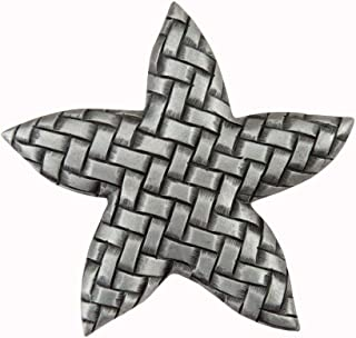 product image for Acorn Manufacturing DP9PP Artisan Collection Woven Star Knob44; Antique Pewter