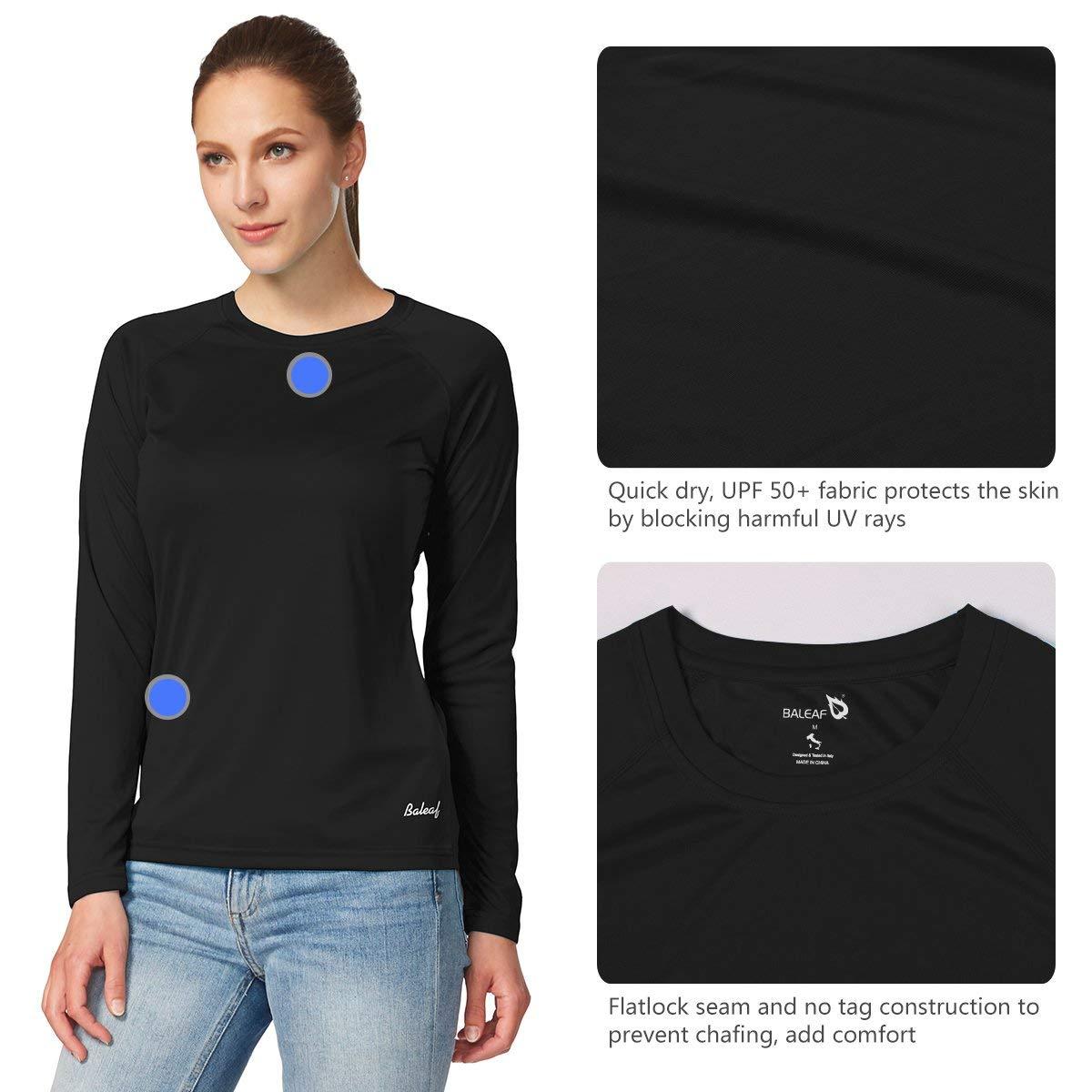 568e2658b Baleaf Women s UPF 50+ Sun Protection T-Shirt Long Short Sleeve Outdoor  Performance at Amazon Women s Clothing store