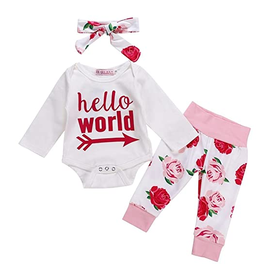 K-youth Body Bebe Manga Larga 3 Pcs Ropa Bebe Recien Nacido Niña Otoño  Invierno 0643e8382e5c