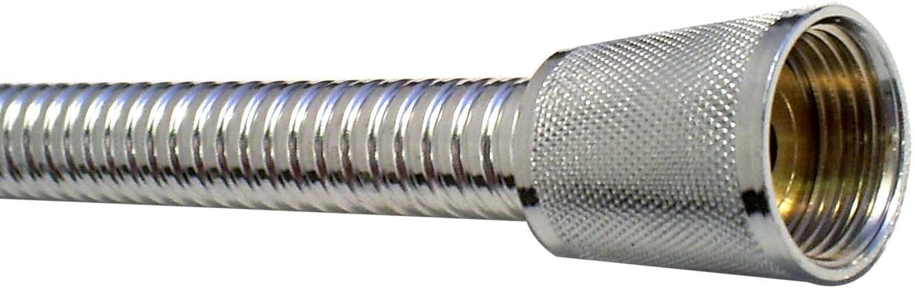 The Home Store Super8 Chrome Metal Shower Hose 1.5m 8mm Bore WRAS Approved