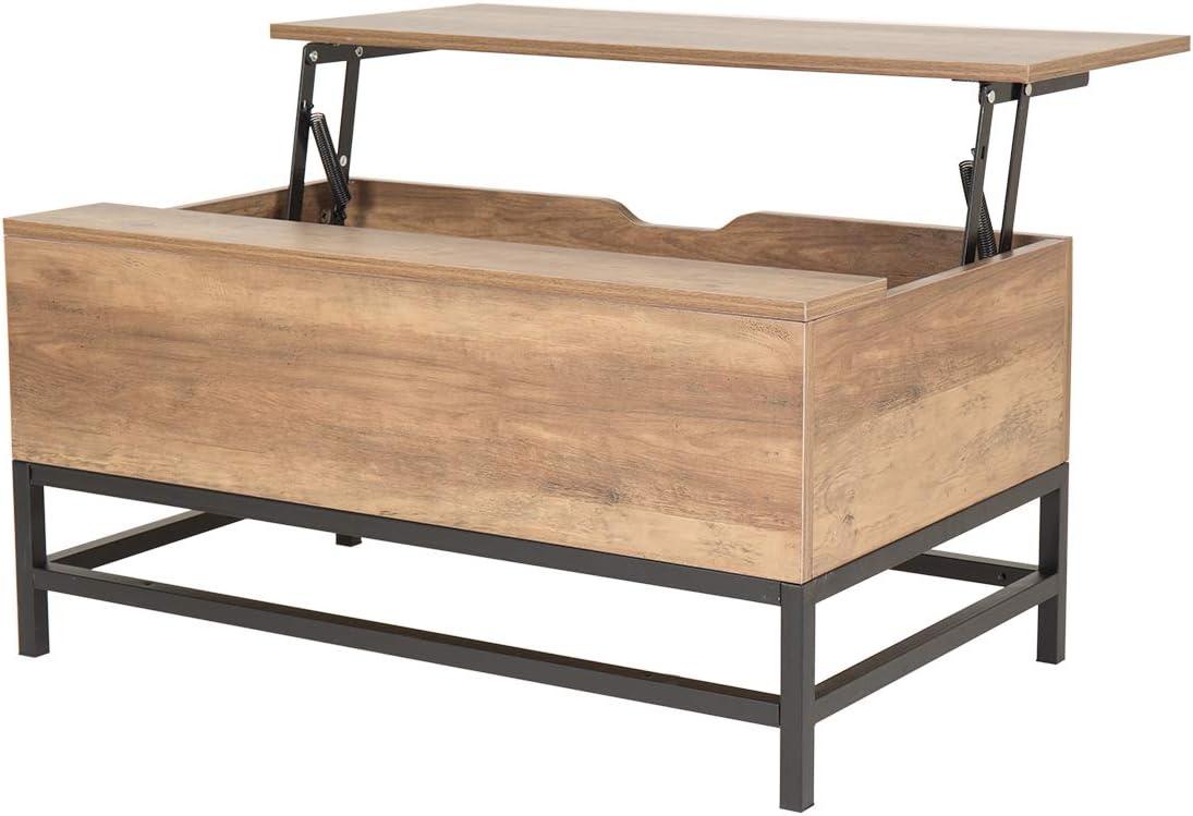 Wonderhome Table Basse En Bois Avec Table De Levage Avec Tiroir De Rangement Pour Salon Et Bureau