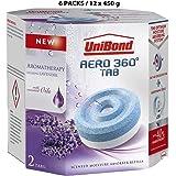 UniBond Aero 360° Moisture Absorber Relaxing Lavender Refill Tabs, 12 x 450 g,