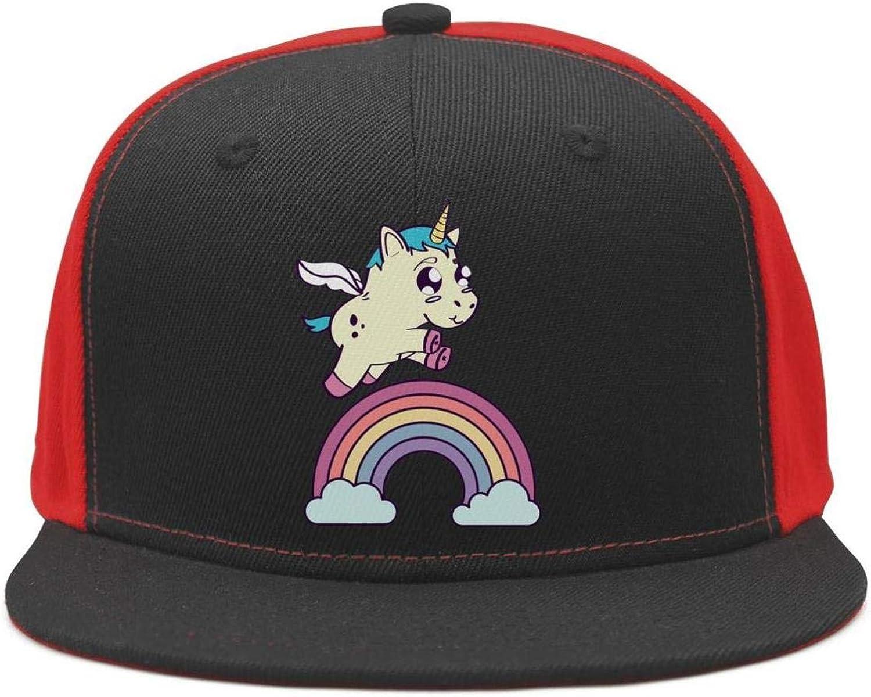 Rainbow Unicorn Head Unisex Baseball Cap Highly Breathable Running Hats Adjustable Trucker Caps Dad-Hat