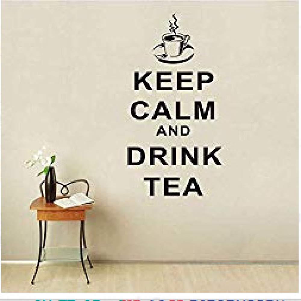 Negro 42x85cmMantenga la Calma y el té del Restaurante inglés café ...