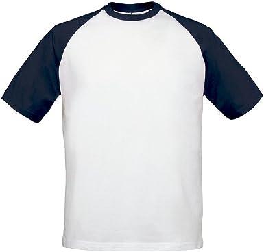 B&C - Camiseta de Manga Corta 2 tonalidades Modelo Baseball Hombre/Caballero: Amazon.es: Ropa y accesorios