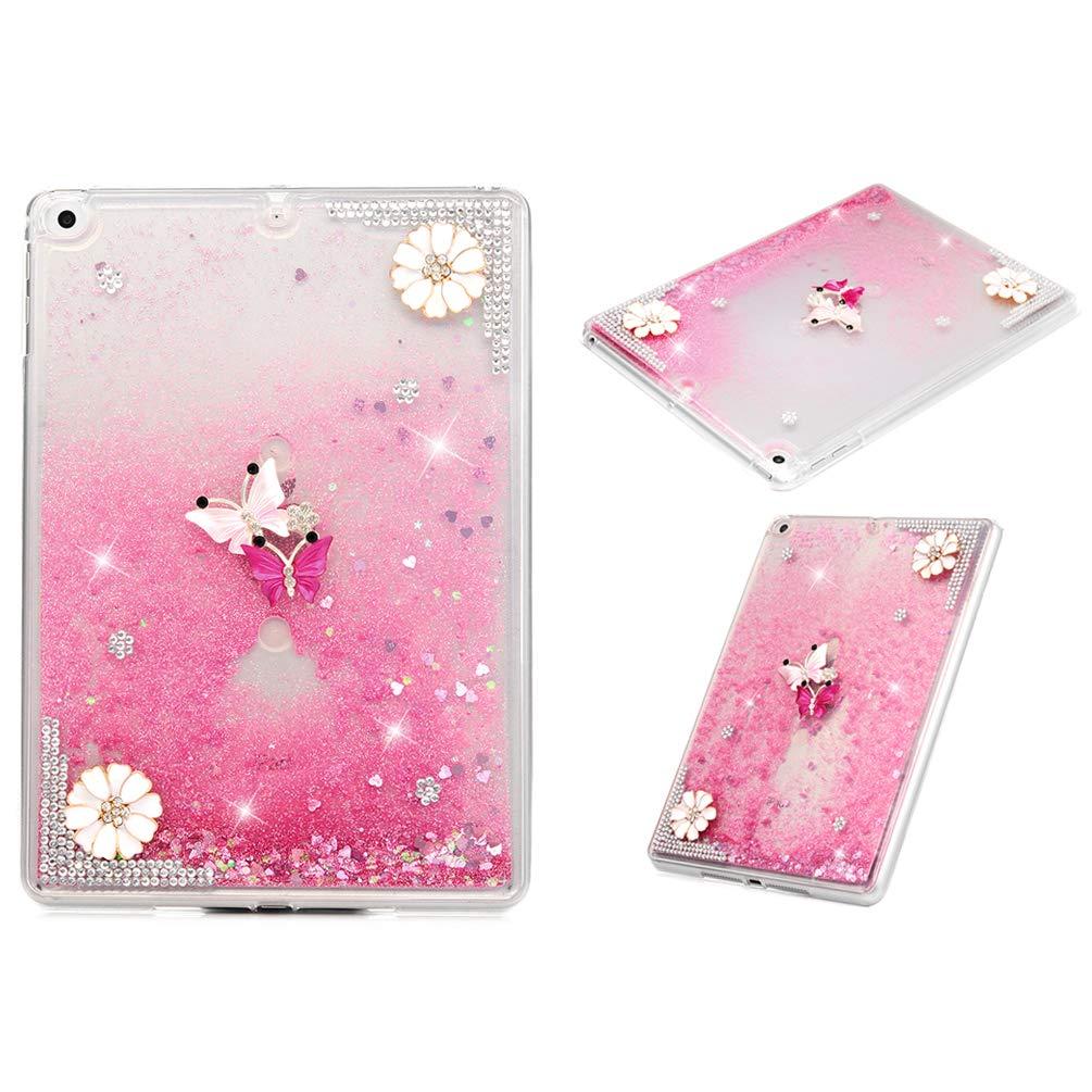 最安価格 Air IPAD/ iPad Air2ケース IPAD キラキラ光る3Dスパークル 流れる液体 クイックサンド iPad ムービングスパンコール 保護ソフトTPUラバーカバー iPad Air/ Air2/ iPad 9.7インチ用 U-BZHS101560 Flower Butterfly B07L97F7C7, バレーボールHiQ:2e616a20 --- a0267596.xsph.ru
