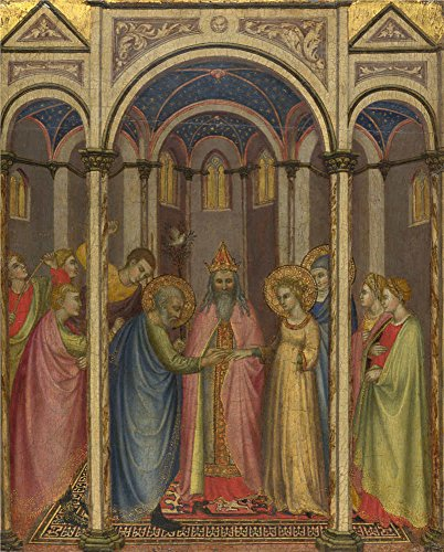 [Oil Painting 'Gregorio Di Cecco Di Luca The Marriage Of The Virgin ' Printing On High Quality Polyster Canvas , 8 X 10 Inch / 20 X 25 Cm ,the Best Nursery Decor And Home Gallery Art And Gifts Is This Amazing Art Decorative Canvas] (Animals That Begin With E)