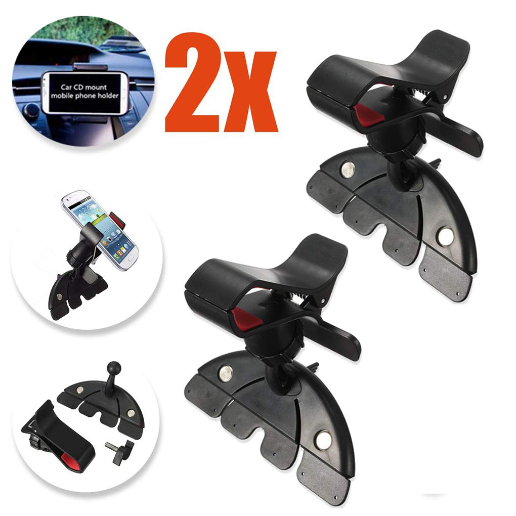 Universal Car CD Player Slot Rotating Mount Holder Cradle Compatible for Mobile Smart Phone GPS Miaomiaogo