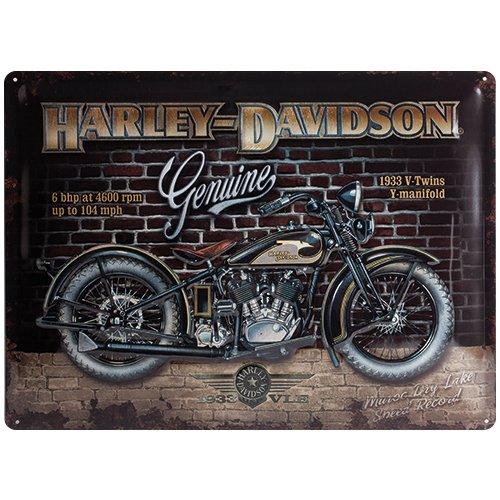 Nostalgic Art Harley-Davidson Brick Wall Sign 30 x 40cm SWIDO 23124