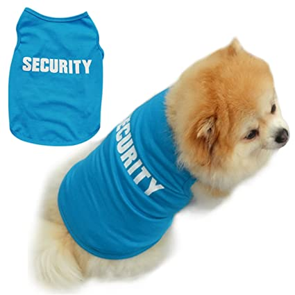 SBParts Lovable Security Design Casual Dog Summer Vest/Pets Costumes Apparel-Blue