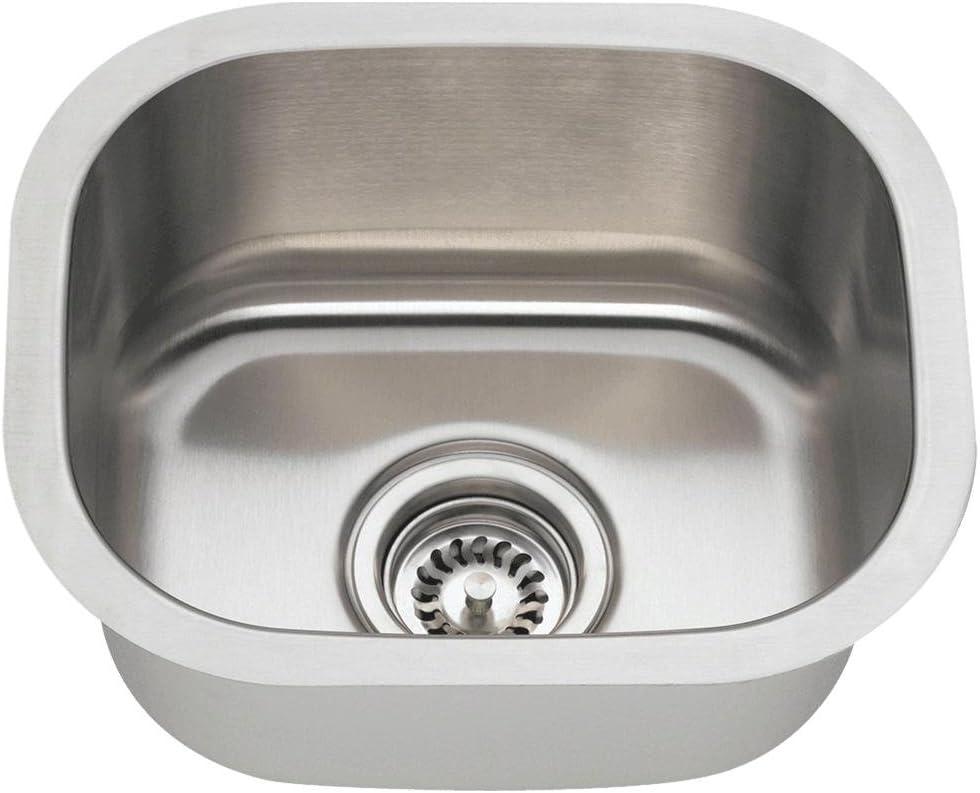 1512 18 Gauge Undermount Single Bowl Stainless Steel Bar Sink Mr Direct Stainless Steel Undermount Sink Amazon Com