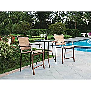 Amazon.com: 3 PC HIGH TOP BISTRO TABLE CHAIRS SET