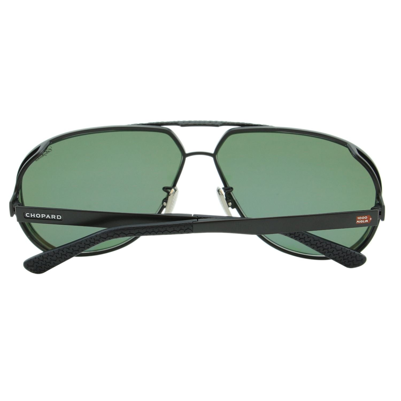 277238cc19 Chopard Mille Miglia SCH-A81 Men Black Titanium Polarized Aviator  Sunglasses  Chopard  Amazon.co.uk  Clothing