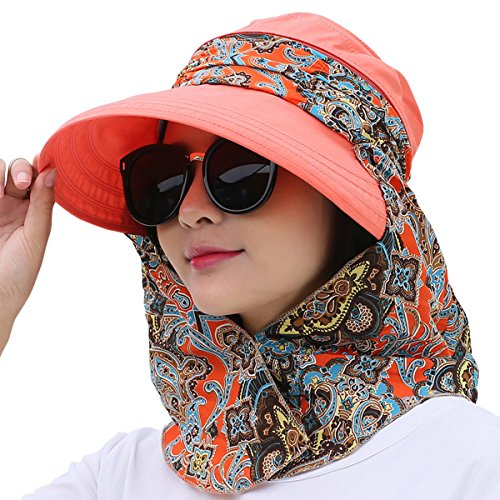 8c2ff2d7 Lanzom Women Lady Wide Brim Cap Visor Hats UV Protection Summer Sun Hats -  Buy Online in Oman. | Apparel Products in Oman - See Prices, Reviews and  Free ...