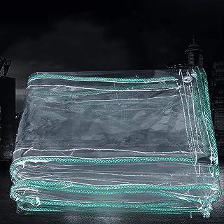 HRFHLHY Tissu Anti-Pluie Transparent, Bord épaissi perforé Tissu en Plastique imperméable Transparent Anti-Pluie, Couvercle de Protection de Fleur de Balcon de fenêtre,1.8x3m