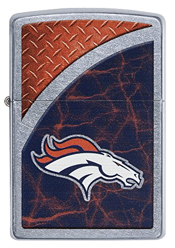 (Zippo NFL Denver Broncos Street Chrome Pocket Lighter)