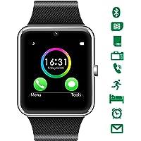 CHEREEKI Bluetooth Smart Watch con camera supporta SIM Card TF Card Touch Screen Smartwatch contapassi Braccialetto per smartphone Android