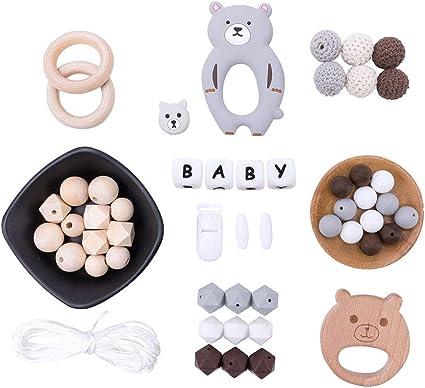 2XBaby Teether Newborn SafetyBiting Rubber Cartoon Baby Teethers Lovely Bear KI